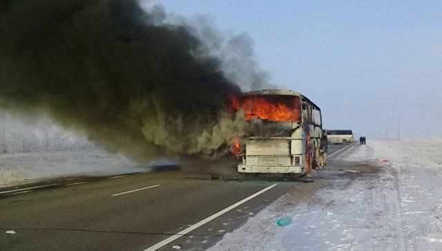 Возгорание автобуса в Казахстане: среди жертв нет армян и граждан Армении