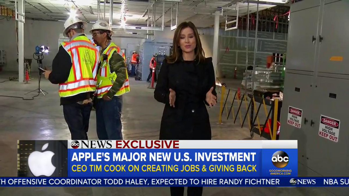 More American jobs & investment due to the passage of #TaxReform! Thank you Apple and @tim_cook