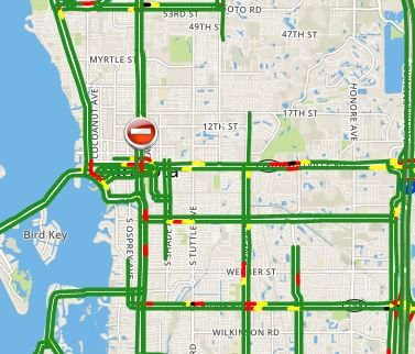 Abc7 Traffic Map.Abc7 Sarasota On Twitter First Alert Traffic An Accident Has Been