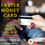 Get your #money when you need it with ATC's faster #moneycard. You can use the FasterMoney #Visa #PrepaidCard for your #taxrefund deposit, plus you can load additional money to access Fee-Free4 in-network5 ATM's: https://t.co/mPHpA9HMHU #ATC #ATCIncomeTax #TaxDeduction #TaxRefu