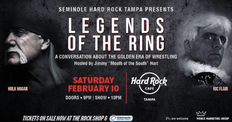 Hulk hogan on twitter wow for the first time ever with longtime only qa meet and greet at hardrock tampa we dont book ordinary events at pmg its more like extraordinary ticketmaster httpbit2rfayni m4hsunfo