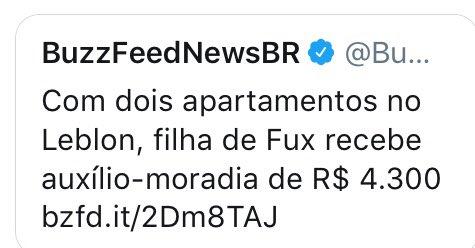 Filha do ministro Fux recebe auxílio-Leblon!