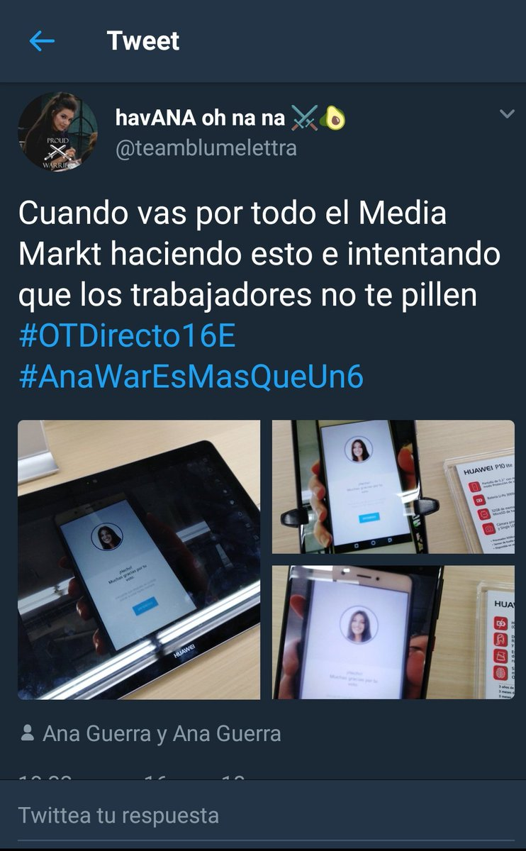 Gracias Twitter.  #OTDirecto18E #AnaWar...