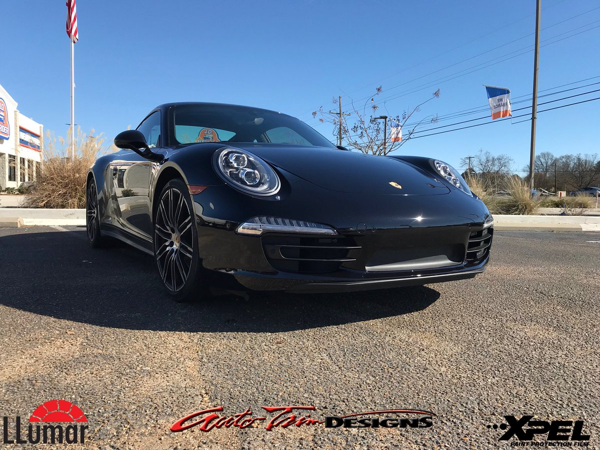 Auto Trim Designs Ms On Twitter 2016 Porsche 911 With Xpel Ultimate Paint Protection And Llumar Air 80 Blue Window Tint