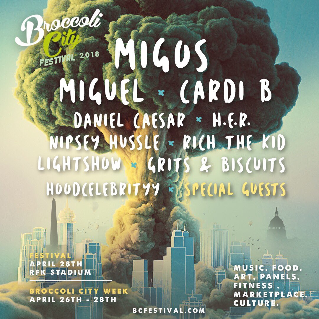 Image result for broccoli city festival 2018
