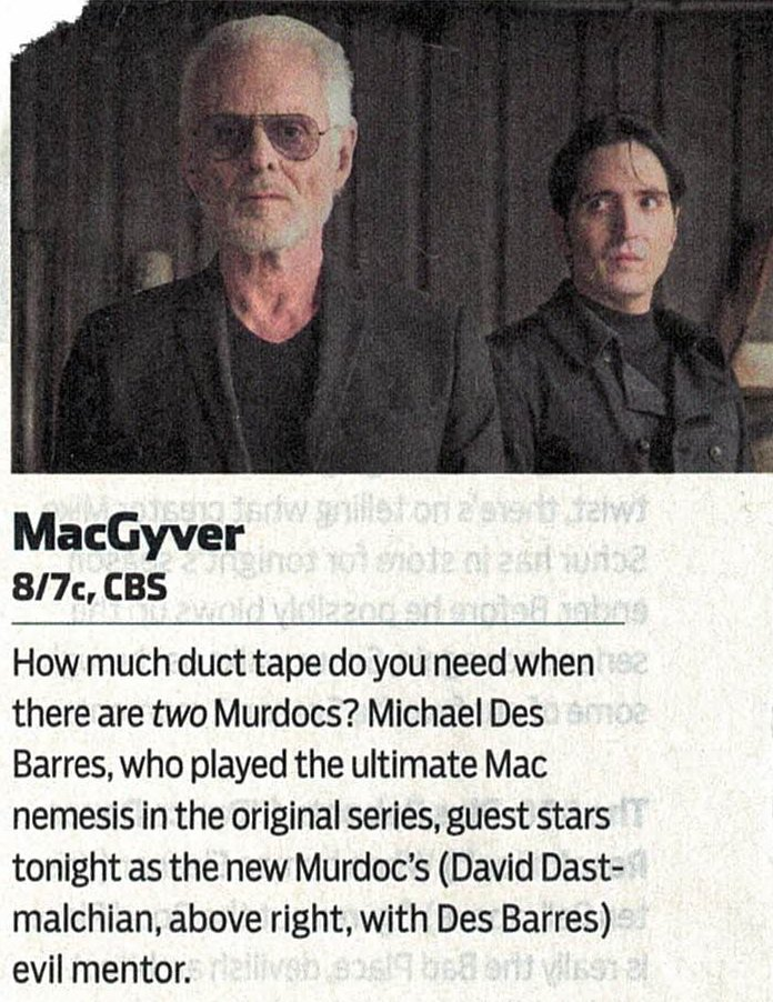 RT @thx1138me2: Love it, love it!  @MDesbarres on the new #MacGyver https://t.co/V5faYONbsJ