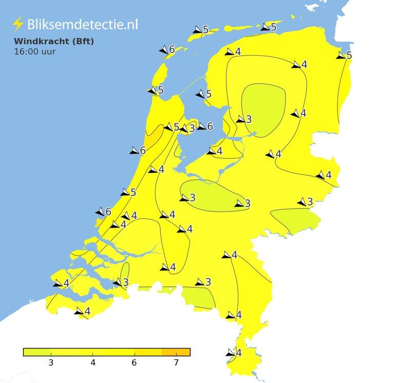 De storm is inmiddels wel Nederland uit, maar hier en daar staat nog steeds windkracht 5-6: https://t.co/KBBmKLgpkA