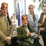 #ThrowBackThursday to when Gary Dunwoody, Jake Jones and Tom Welsh  all @shrinershosp Board Members received the key to the city from then Las Vegas Mayor Oscar Goodman in 2009 to kick-off tournament week. Oscar Goodman is a fellow Shriner.  #SHCO #TBT #KeyToTheCity 🔑