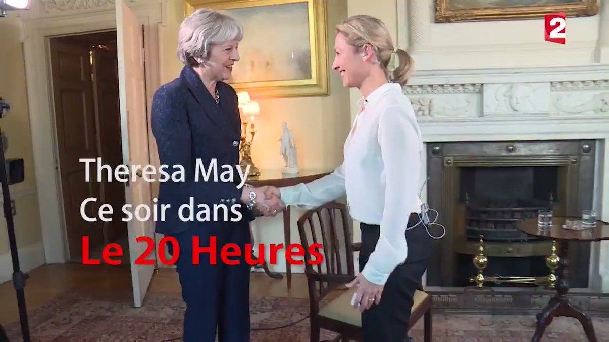 Le 20Heures France2's photo on Theresa May