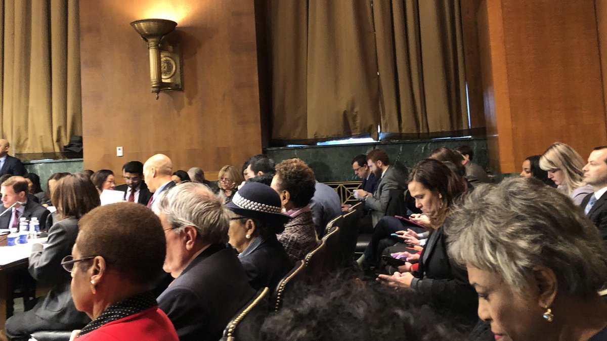 We're holding a sit-in at the Senate Judiciary Committee's #MonsterMarkup today to urge the Senate to reject the nominations of #ThomasFarr and #EricDreiband to the federal bench. #ALotToLose #CourtsMatter #JudgesMatter #TrumpJudges