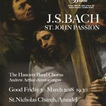 Tickets are now on sale for our Good Friday performance of J.S. Bach's St John's Passion. We are so excited to be back at St Nicholas Church, Arundel! Tickets can be found via our website below: https://t.co/3u6Xqc1BhQ #THB_StJohnPassion2018