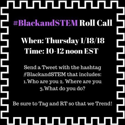 1. Who are you: Krystle J. McLaughlin, PhD 2. Where are you: Vassar College, Poughkeepsie NY 3. What do you do? Teach as new assistant prof in Chemistry. Mentor students in research on microbial protein structure and function using x-ray crystallography. #BlackandSTEM #RollCall<br>http://pic.twitter.com/sQezmnRKcR