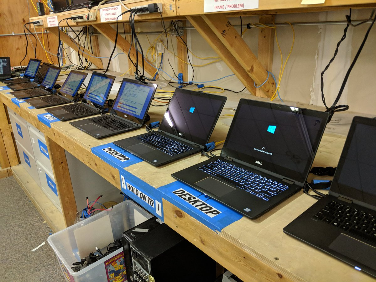 Getting more laptops ready for deployment.