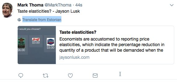 OK, I know economese isn't very good English -- but the algorithm seems to think it's Estonian?