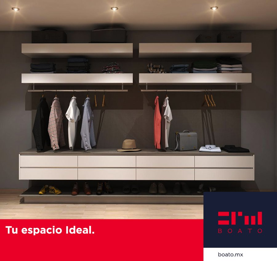 Diseña cada detalle de tu Closet. Logrando el espacio ideal que siempre has deseado.  #BOATO #InteriorDesign #Closet https://t.co/c6Or67Hd5N