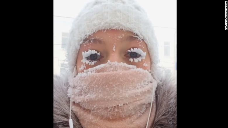 Even the eyelashes freeze: Russia sees minus 88.6 degrees F https://t.co/WQxnZO05Qt