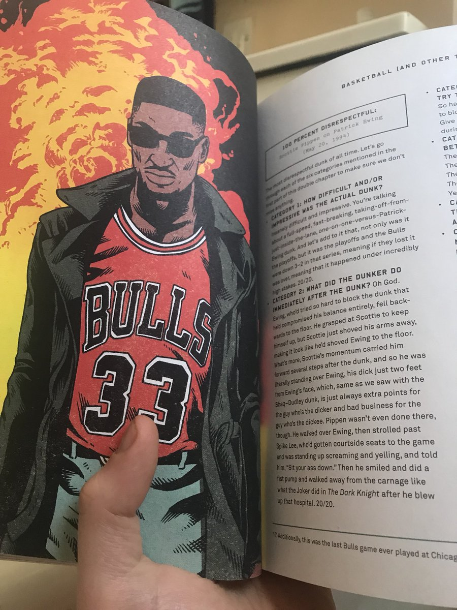 """@SheaSerrano Reading the chapters on """"Most Disrespectful Dunks"""" and saying """"Where's Pippen?"""" then laughing maniacally when I flipped ahead"""