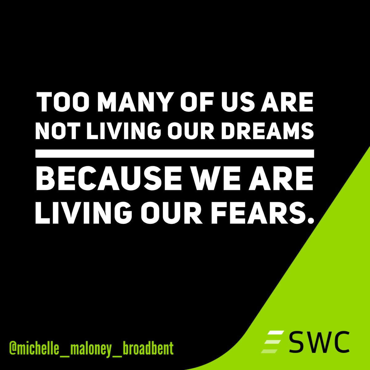 fear dream change growth newyear 2018 southwesternconsulting swcsales swc swc2017 success sales goalsetting nashville tennessee salescoach
