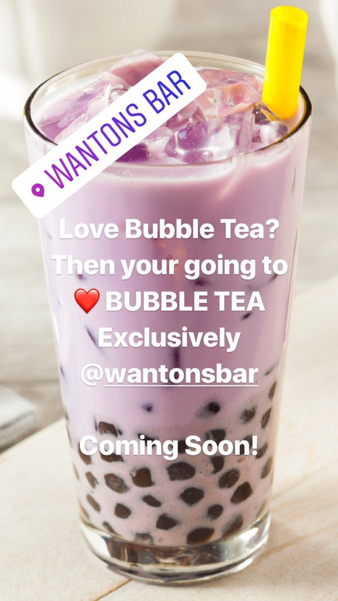 BUBBLE TEA is coming back to Leicester!  #BubbleTea #PoppingPearls #MilkTea #FruitTea #BubbleTeaLeicester #WantonsBar #LoveBubbleTea #YumCha #LeicesterFood #DimSum #StreetFood #ChineseStreetFood #HongKongStreetFood #AsianStreetFood #ClickAndCollect #ClickAndDelivery #JustEat