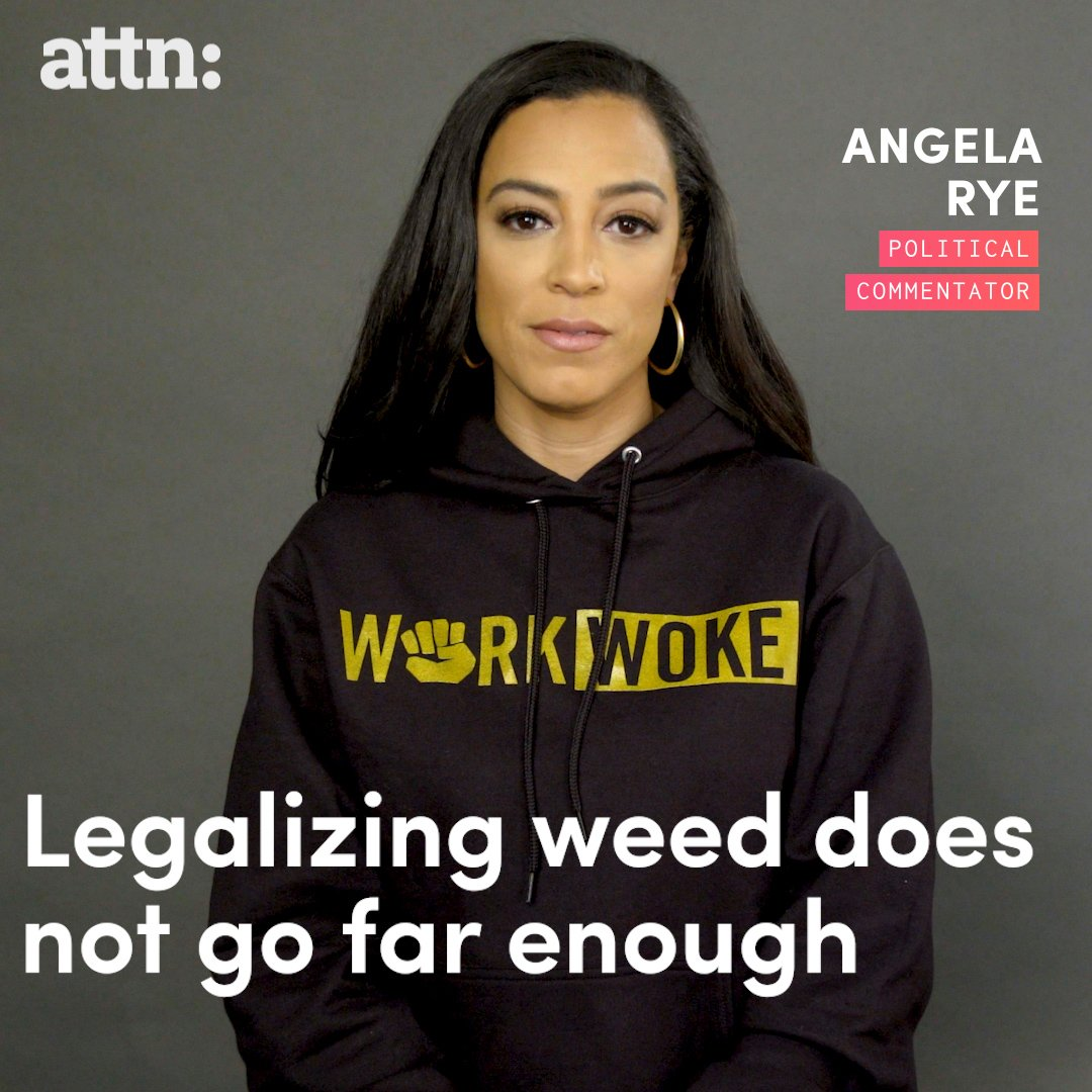 RT @attn: Legalizing weed isn't the only answer to ending the war on drugs -- @angela_rye https://t.co/rhnqYU6Lb3
