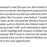 Windsor and Detroit have a powerful story to tell. This is just the beginning. #AmazonHQ2