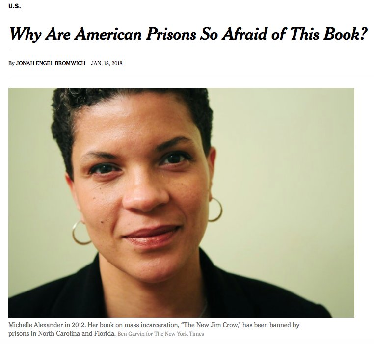 The New Jim Crow On Twitter Perhaps They Worry The Truth Might Actually Set The Captives Free Michelle Alexander In Nytimes Reporting By Jonesieman Https T Co Nqoxpzvfjl Https T Co Hrbjq86pqb