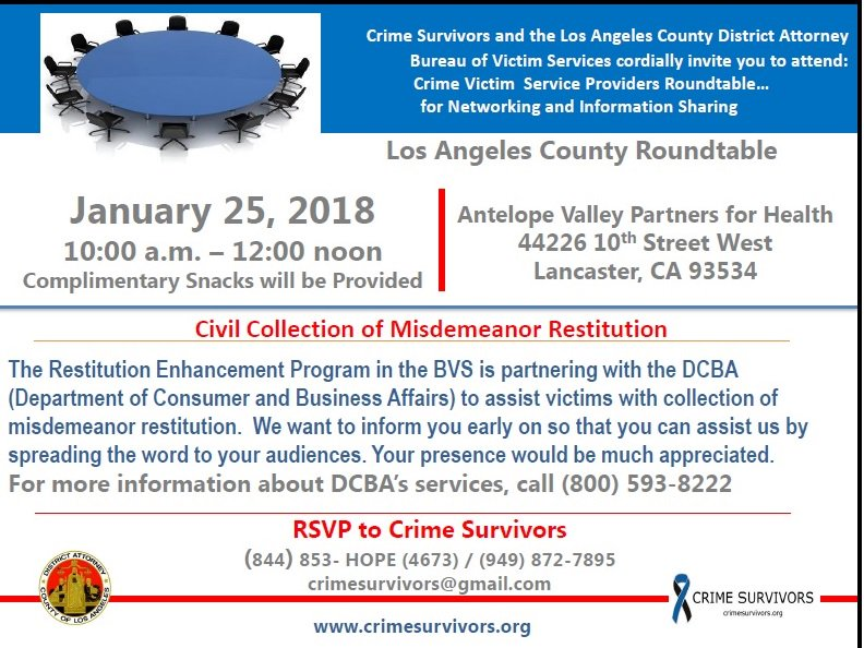 Only two days away! @LADAOffice @crimesurvivors #VictimRestitution #MRP