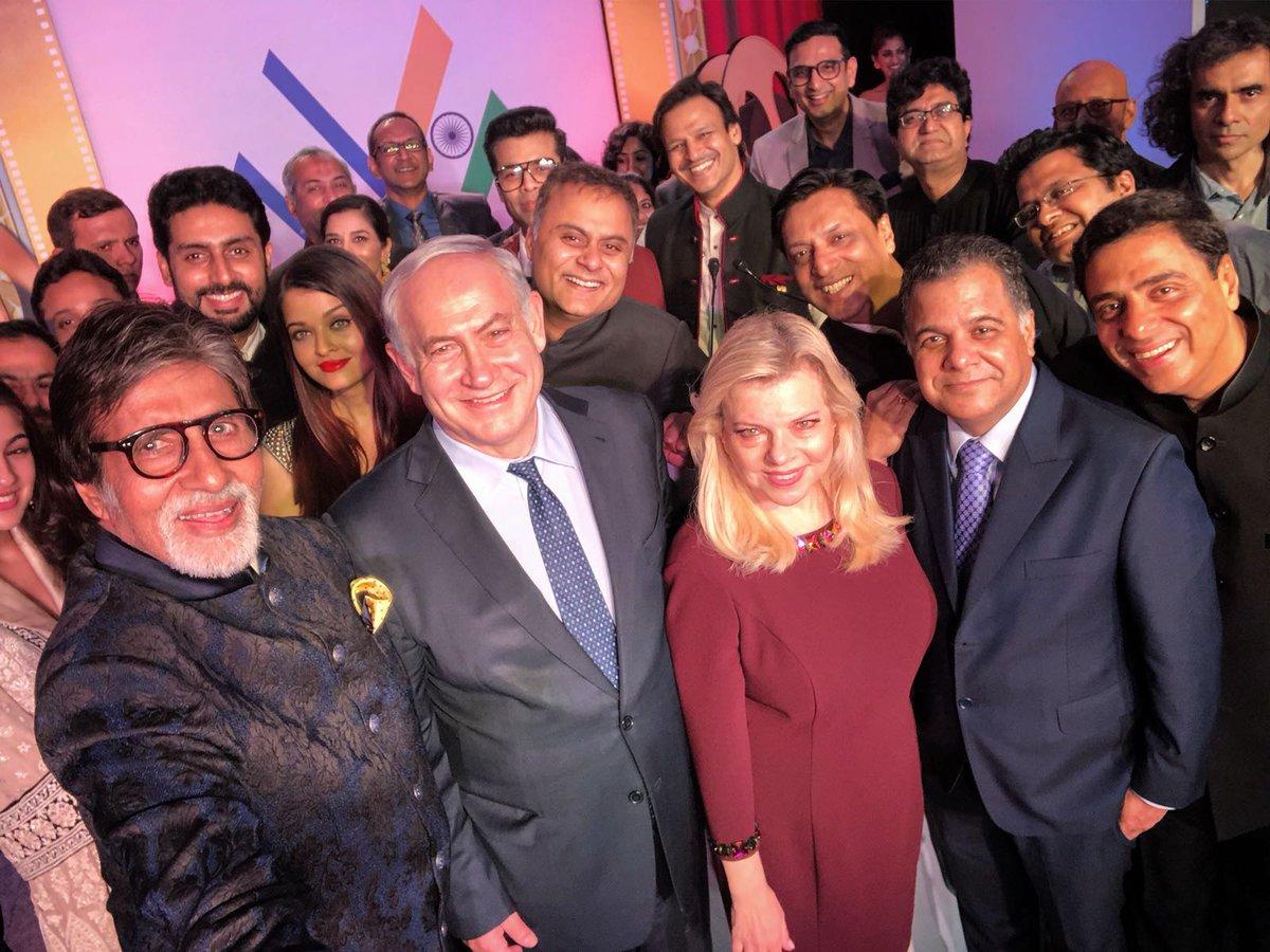 प्रधानमंत्री बेंजामिन नेतन्याहू और उनकी पत्नी सारा बॉलिवुड फिल्म उद्योग के गणमान्य लोगों के साथ 'शलोम बॉलिवुड' कार्यक्रम में शामिल हुए. 🇮🇱🇮🇳