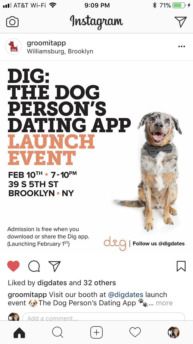 Dig The Dog Person S Dating App On Twitter Thank You For The Love Groomitapp Everyone Come Meet The Dig And Groomit Teams At The Ny Dig Launch Event 2 10 18 Tix A free inside look at company reviews and salaries posted anonymously by employees. twitter