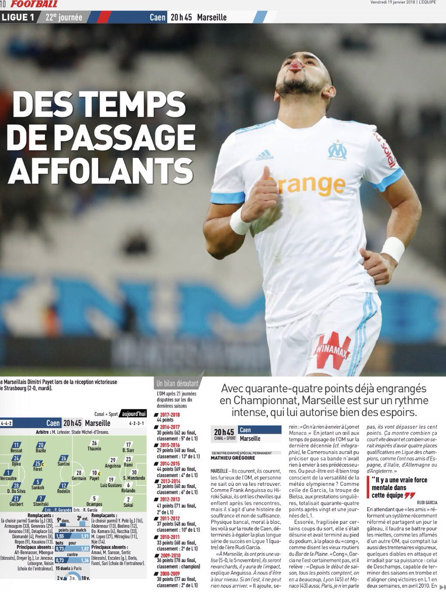 [22e journée de L1] SM Caen 0-2 O Marseille DT3BXgXW0AAfu-p