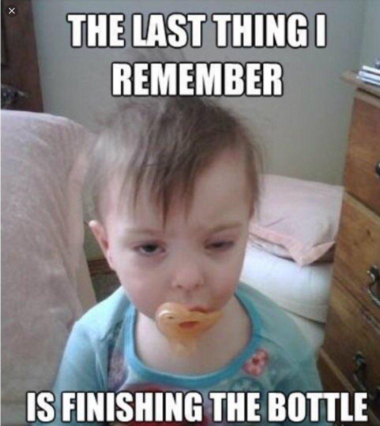 #IRememberWhenYouCould finish the bottle...