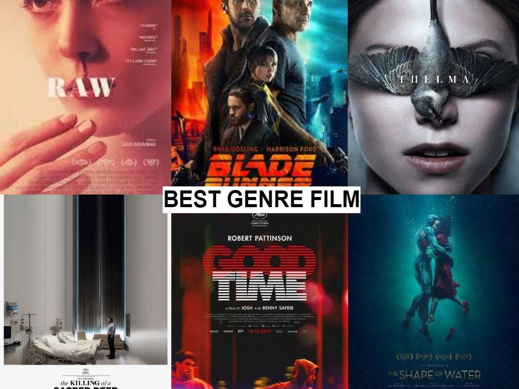 BEST GENRE FILM #RoberAwards2017 #nominations#BladeRunner2049 (D. Villeneuve)#goodtime (B. Safdie, J. Safdie)#RAW (J. Ducurnau)#TheKillingOfASacredDeer (Y. Lanthimos)#TheShapeOfWater (G. Del Toro)#Thelma (J. Trier)Vote for your favourite@ http://bit.ly/2ES0Vvq  - FestivalFocus