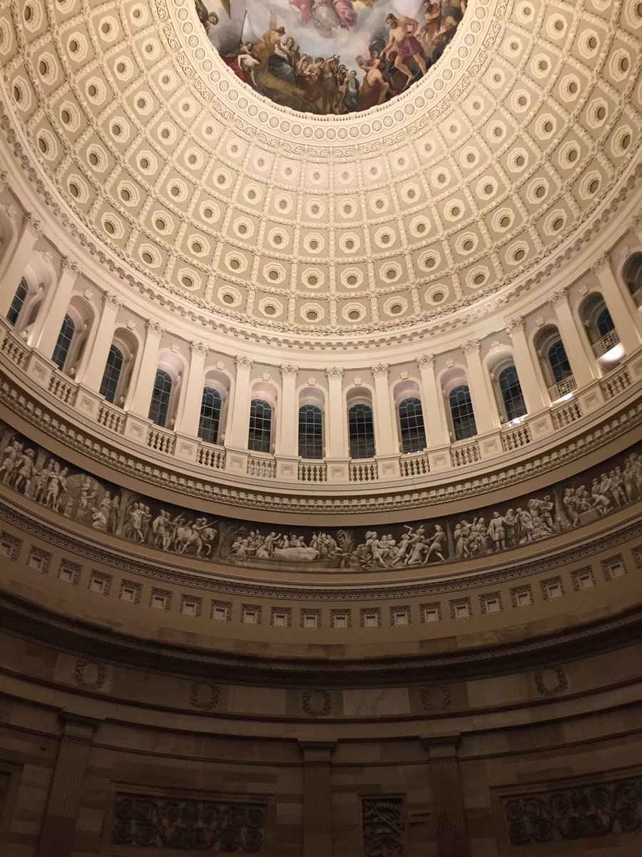 A quiet night in the rotunda