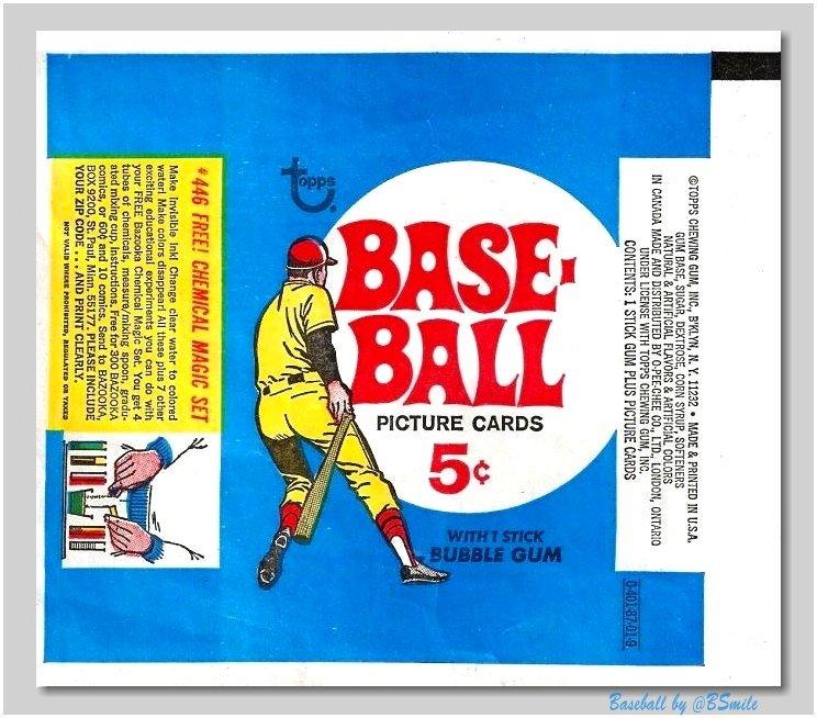 Baseball By Bsmile A Twitter 1969 Topps Baseball Cards 5 Wrapper
