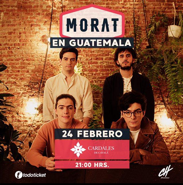 ¡Guatemala! ¡Los esperamos! Consigan sus entradas en este link: todoticket.com/morat-2018