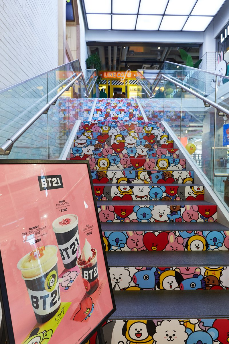 Stairway to the birthplace of #BT21 http...