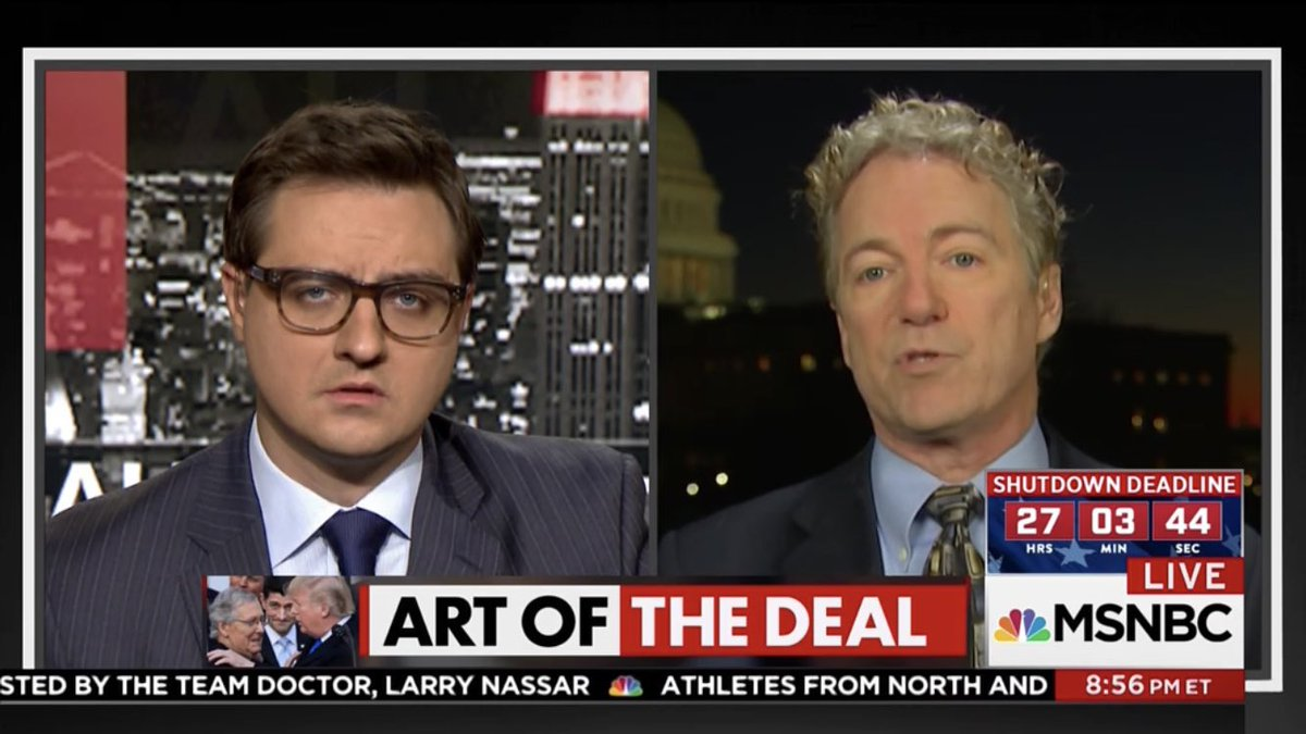 I shared @chrislhayes' expression but mine was from wondering wtf Rand Paul is doing with his hair these days https://t.co/VDf5QTyg9u