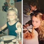Like mama… Like daughter :-) both of us girls were almost 4 and loving our spaghetti 😋 #TBT