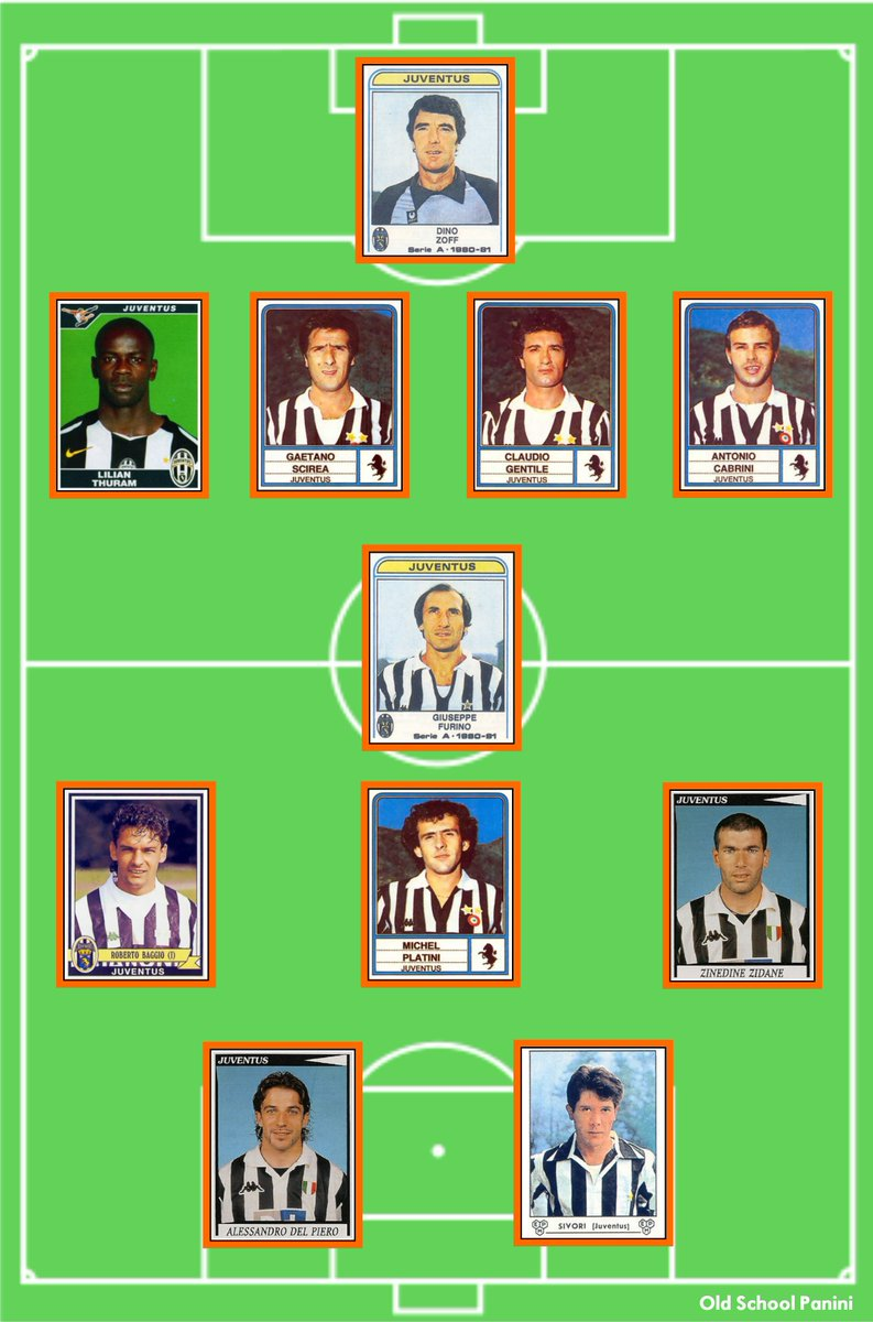 Old School Panini On Twitter Juventus F C All Time Xi Do You Agree