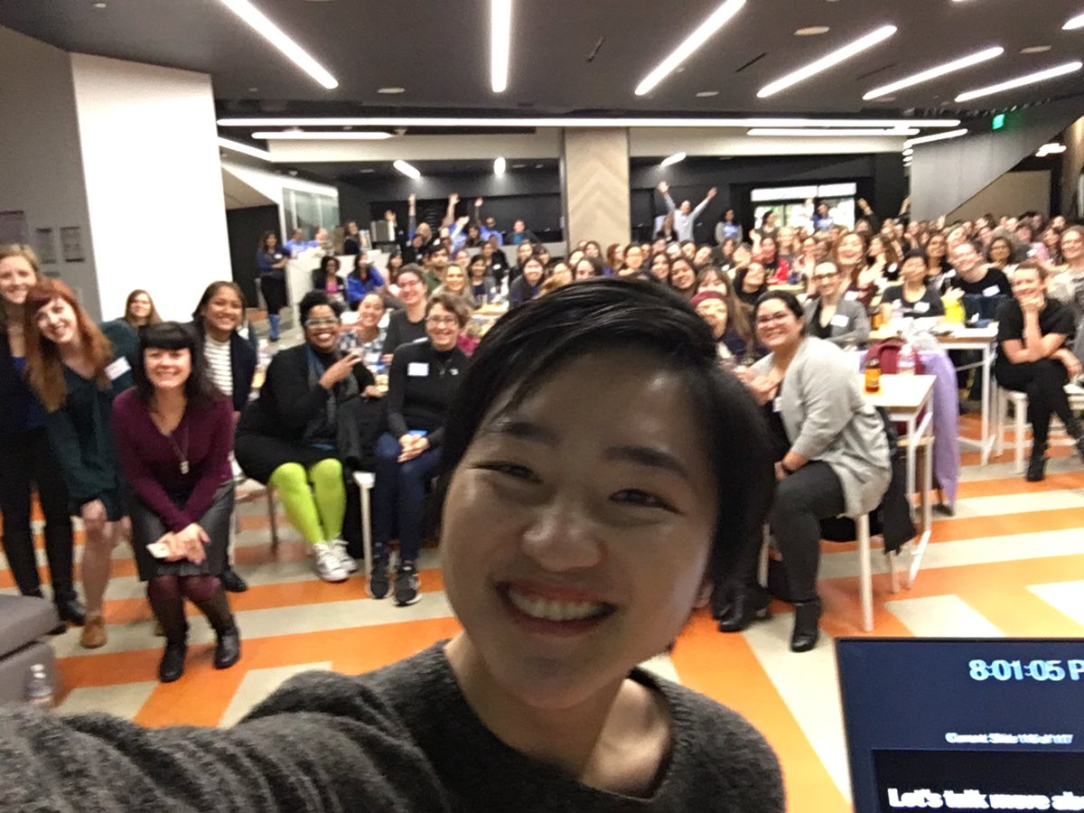 Awesome turnout at #GirlGeekXIndeed tonight ❤️🙌