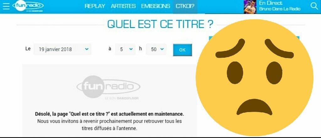 @funradio_fr @RTL_presse Quand est-ce que ça sera réparer ??? #FunRadio https://t.co/hQ3V4xrWst https://t.co/GVthJyQQJ0