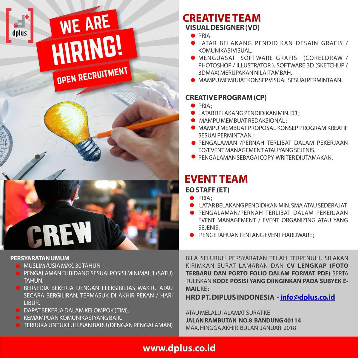 Lowongan Kerja Event Organizer Bandung 2019