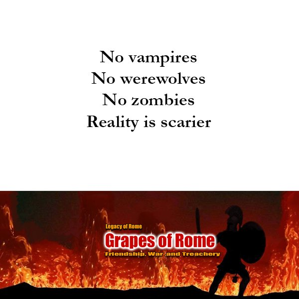 Scarier than zombies werewolves and vamp...