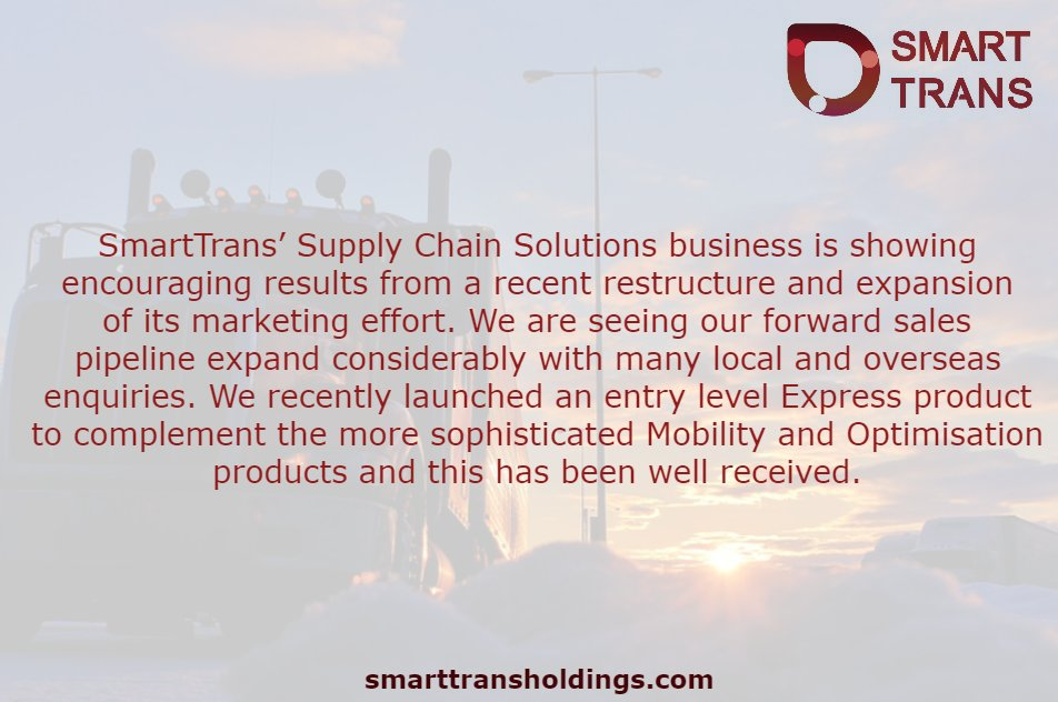 #SmartTrans Managing Director Brendan Mason on $SMA&#39;s Supply Chain Solutions business  $SMA #ASX #cloud #SaaS #logistics #tech #technology #supplychain #business #Ausbiz #growth #investing #news<br>http://pic.twitter.com/cPBi4XuTZy