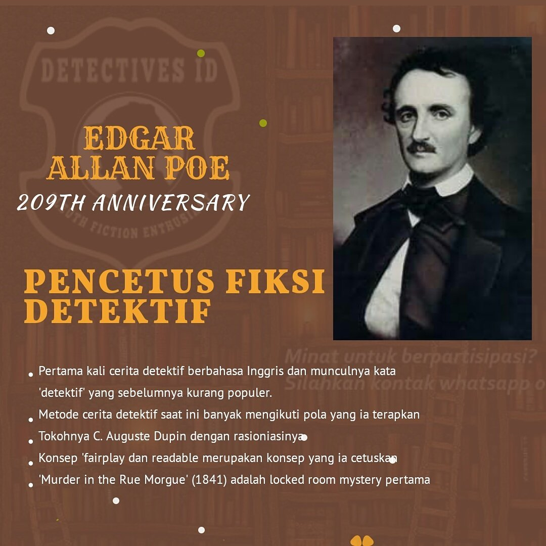 """edgar allan poe the pioneer of the detective story Sherlock holmes: pioneer in forensic science: between edgar allan poe's invention of the detective story with """"the murders in the rue morgue"""" in 1841 and arthur conan doyle's first sherlock holmes story a study in scarlet in 1887, chance and coincidence played a large part in crime fiction."""