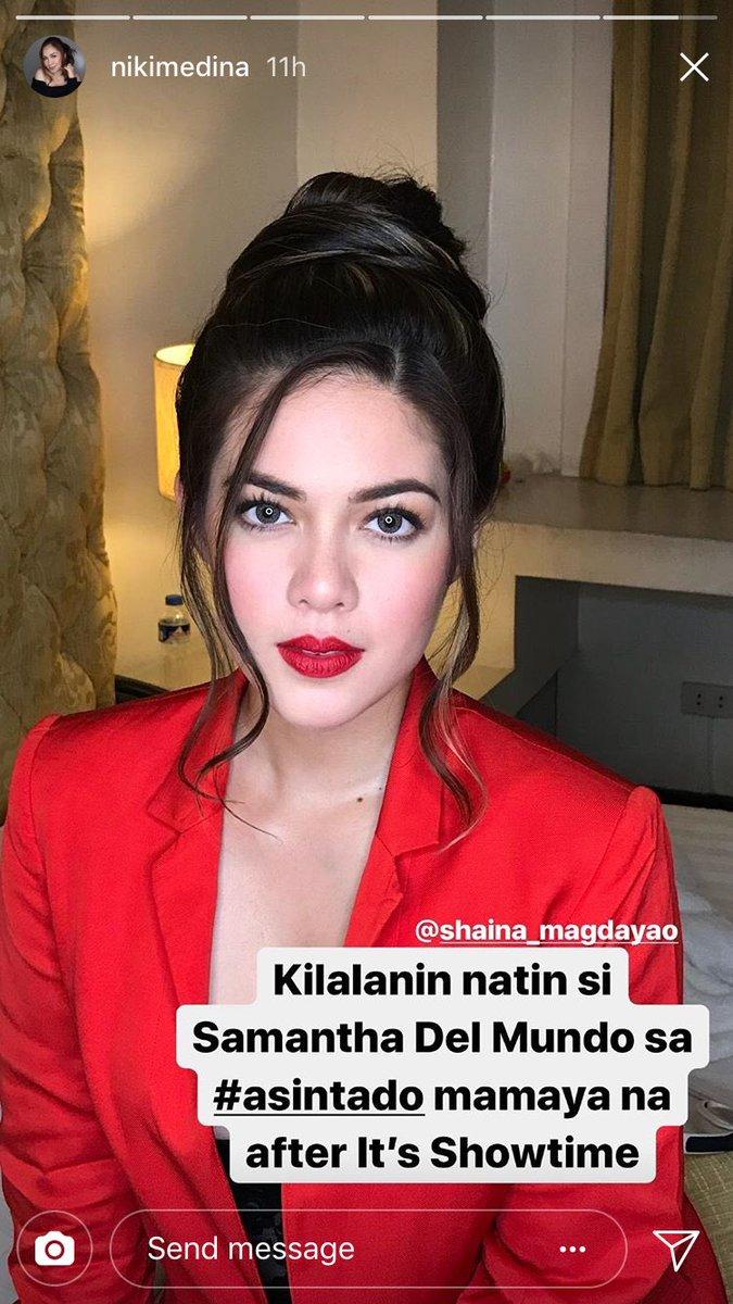 Shaina Magdayao Fans On Twitter Hi Samantha Can T Wait For Today S Episode Asintadobabala