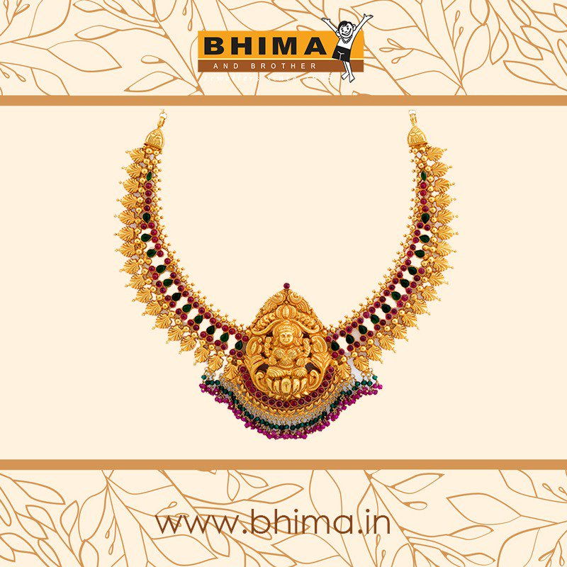 Bhima Jewellery On Twitter This Necklace Is An Antique Gold