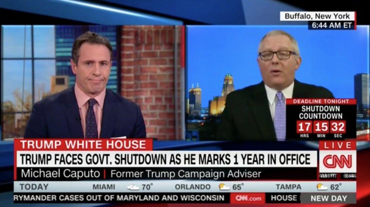 Chris Cuomo Roasts Fmr. Trump Adviser Over Impending Shutdown: 'He's Going Golfing!' https://t.co/GUnM50tAFM