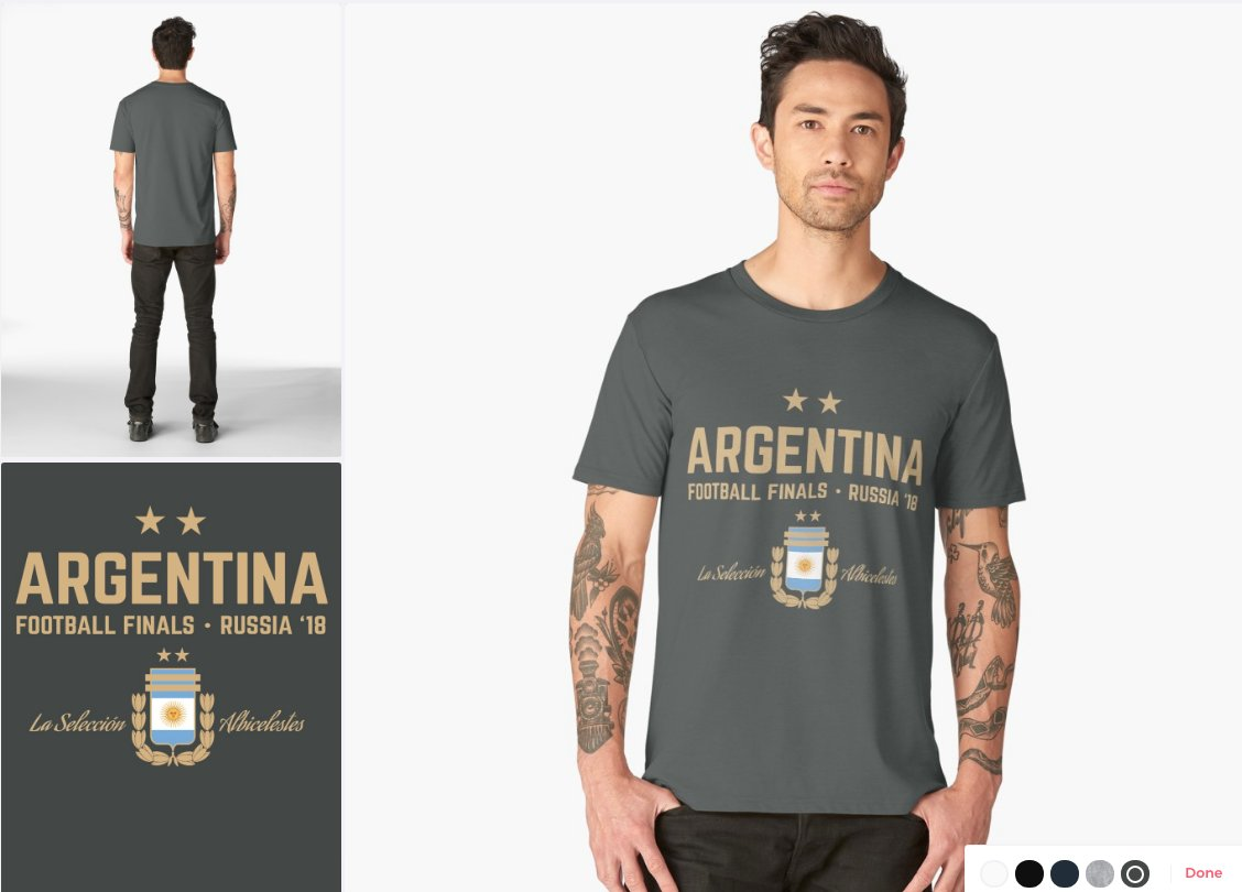 16e402e8f ... http   www.redbubble.com people uniq-apparel works 29957058-argentina- football-world-cup-2018 asc u p mens-premium-t-shirt …