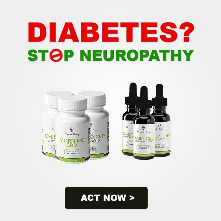 Diabetes? Stop Neuropathy. Act now &gt;&gt;  https:// medicalmary.com  &nbsp;   #diabetes #CBD #CBDoil #hempoil<br>http://pic.twitter.com/UFfZCH5otN